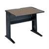 "36""W Reversible Top Computer Desk Mahogany/Medium Oak/Black"