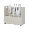 Mobile Roll File, 21 Compartment Putty