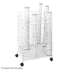 Wire Roll File, 24 Compartment White