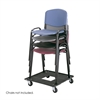 Stack Chair Cart Black