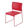 Currant™ High Density Stack Chair (Qty. 4) Red/Red
