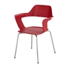 Bandi™ Shell Stack Chair Red