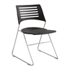 Pique Chair Black/Silver (Qty. 4) Black/Silver