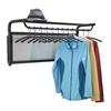 Impromptu® Coat Wall Rack with Hangers Black