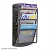 Impromptu® Magazine Rack 3 Pocket Black
