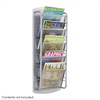 Impromptu® Magazine Rack 5 Pocket Gray