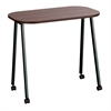 Mobile Work Table Walnut/Black