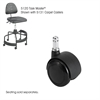 "Task Master® Carpet Casters, 2"" (Set of 5) Black"