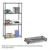 "Commercial Extra Shelf Pack, 36 x 18"" Black"