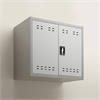"""27""""H Steel Storage Cabinet, Wall Mountable Gray"""