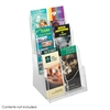 Acrylic 3 Pocket Magazine Display Clear