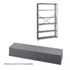 48 x 12 Industrial 6 Shelf Pack Gray
