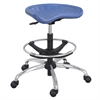SitStar™ Stool with Chrome Base Blue