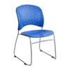 Reve™ Guest Chair Sled Base Round Back (Qty. 2) Blue