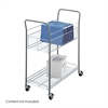 Economy Mail Cart Metallic Gray