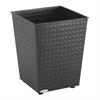 Checks Wastebasket (Qty. 3) Black