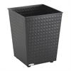 Checks Wastebasket (Qty. 3) Black