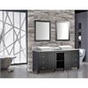 """MTD Vanities Belarus 72"""" Double Sink Bathroom Vanity Set, Espresso"""
