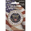 Pioneer Self-Adhesive Metal Military Medallion Air Force