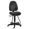 Black Executive Drafting Height Monarch Chair