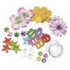 Potpourri Paper Flower & Embellishment Pack Rainbow