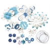 Potpourri Paper Flower & Embellishment Pack Blues