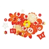 Potpourri Paper Flower & Embellishment Pack Oranges