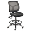Alvin Argentum Mesh Back Chair Drafting Height