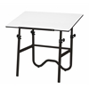 "Alvin Onyx Black Base with White 30"" x 42"" Top"