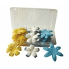 Blue Hills Studio Irene's Garden Box O'Blooms Flower Pack Yellow/White/Royal