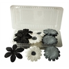 Blue Hills Studio Irene's Garden Box O'Blooms Flower Pack Black/White/Gray