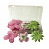 Blue Hills Studio Irene's Garden Box O'Blooms Flower Pack Pink/Hot Pink/Lime