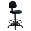 Black Comfort Economy Drafting Height Task Chair