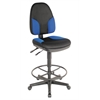 Alvin Black & Blue High Back Drafting Height Monarch Chair