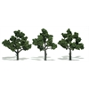 "Woodland Scenics 3""-5"" Ready Made Tree Value Pack Green Deciduous"