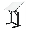 "Table Black Base White Top 31"" x 42"""