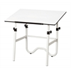 "Alvin Onyx White Base with White 28"" x 42"" Top"