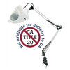 Alvin 1.75x Swing-Arm Magnifier Lamp White