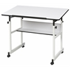 Alvin MiniMaster II Table White Base with White Top
