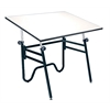"Table Black Base White 31"" x 42"""