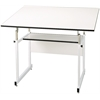 "Alvin WorkMaster Jr. Table White Base White Top 31"" x 42"""