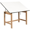 "Alvin Titan Solid Oak Table Oak Finish 31"" x 42"" x 30"""
