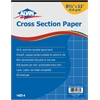 "Cross Section Paper 8"" x 8"" Grid 50-Sheet Pad 8-1/2"" x 11"""