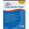 "Cross Section Paper 10"" x 10"" Grid 50-Sheet Pad 8-1/2"" x 11"""