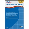 "Cross Section Paper 8"" x 8"" Grid 50-Sheet Pad 11"" x 17"""