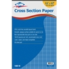 "Alvin Cross Section Paper 10"" x 10"" Grid 50-Sheet Pad 11"" x 17"""