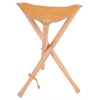 Heritage Leather Seat Wood Stool