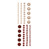Adhesive Pearls Red