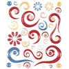 Blue Hills Studio ColorStories Epoxy Swirl Stickers Red