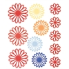 Blue Hills Studio ColorStories Gel Outline Daisy Stickers Red